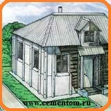 как обшить дом и сарай на даче плоским шифером