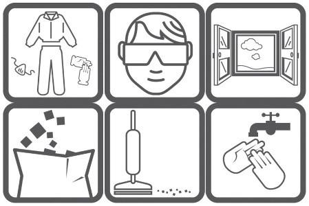 Меры безопасности в картинках при работе со стройматериалами в помещении